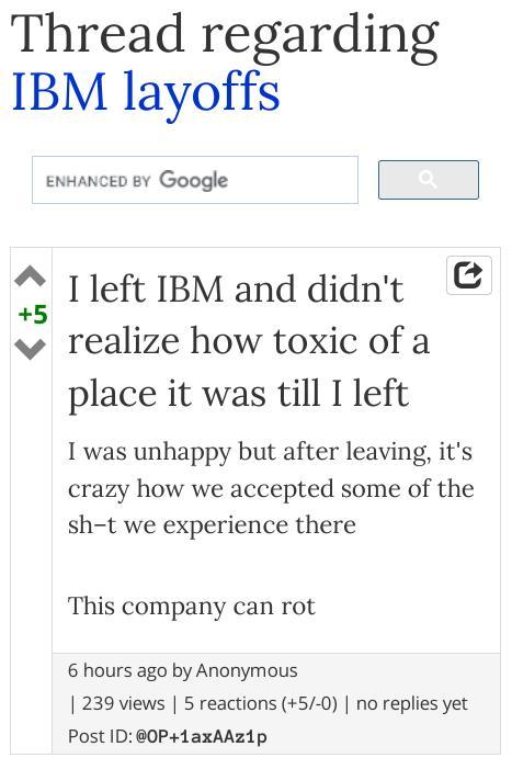IBM ayoffs