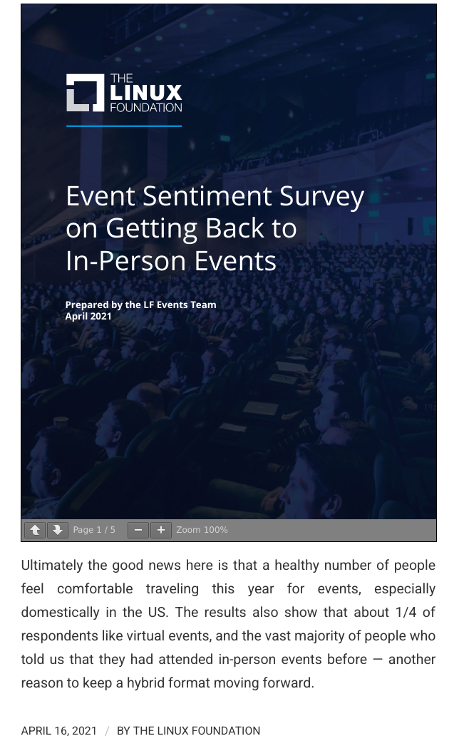 What we learned from our survey about returning to in-person events