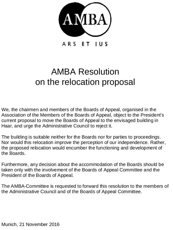 AMBA - Resolution on Haar