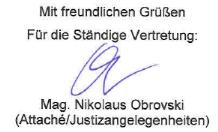 Nikolaus Obrovski's signature
