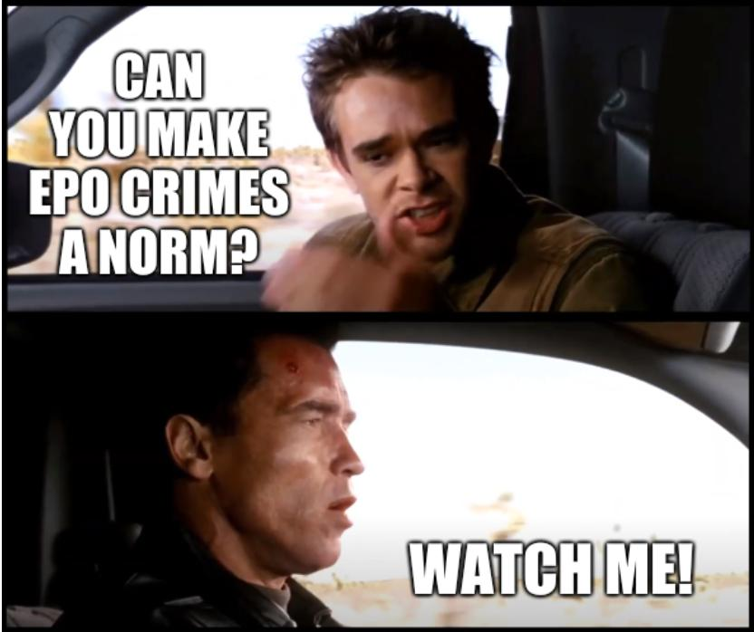 Terminator 3 we stopped judgment day: Can you make EPO crimes a norm? Watch me!