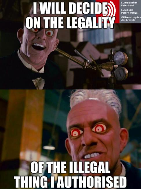 Judge Doom: I will decide on the legality of the illegal thing I authorised