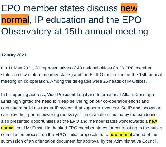 EPO crime as norm