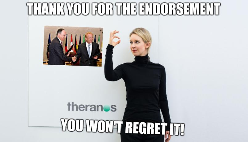 EPO and Theranos: Thank you for the endorsement. You won't regret it!