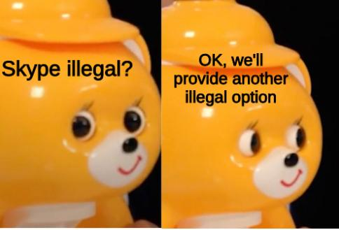 Shaved Ice Bear: Skype illegal? OK, we'll provide another illegal option