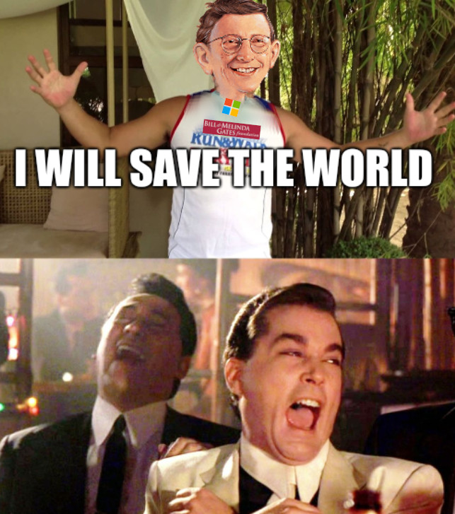 Gates saves