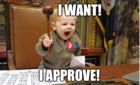 Kid judge: I want! I approve!