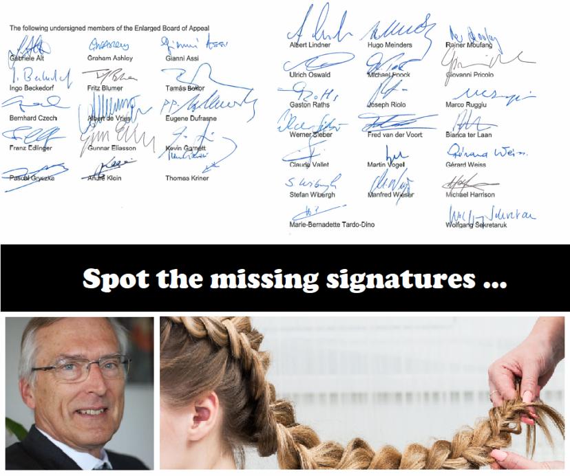 The missing BoA signatures