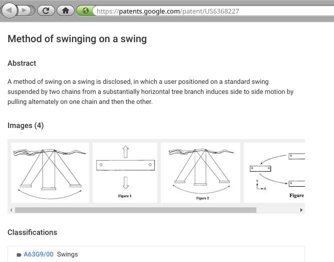 A patent on swing