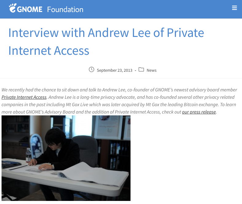 Andrew Lee's GNOME interview