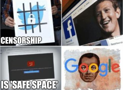 The censorship is 'safe space'