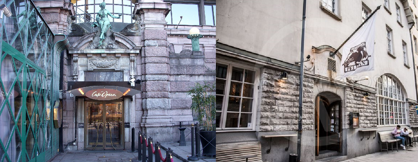 Café Opera and the Pelikan Restaurant in Stockholm