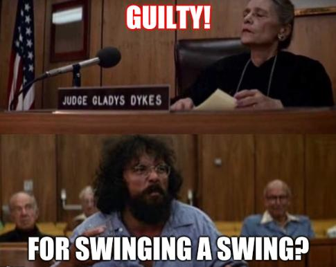 Chong And Judge: GUILTY! For swinging a swing?