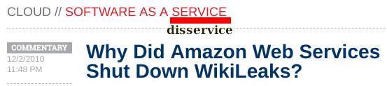Why Did Amazon Web Services Shut Down WikiLeaks?