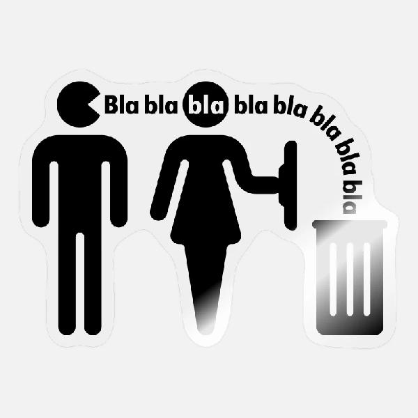 Blah in trash