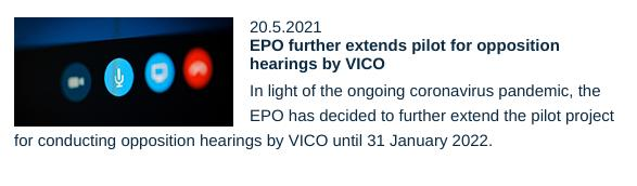 EPO further extends pilot for opposition hearings by VICO