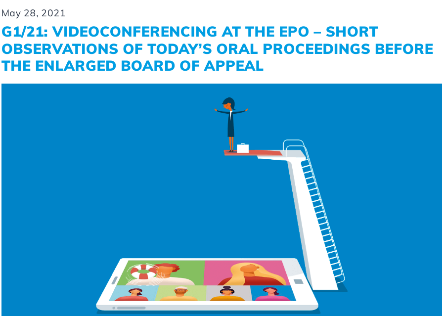 G1/21: Videoconferencing at the EPO - short observations of today's oral proceedings before the Enlarged Board of Appeal