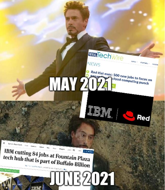 IBM in May 2021 and June 2021