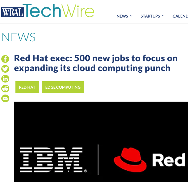 Red Hat exec: 500 new jobs to focus on expanding its cloud computing punch