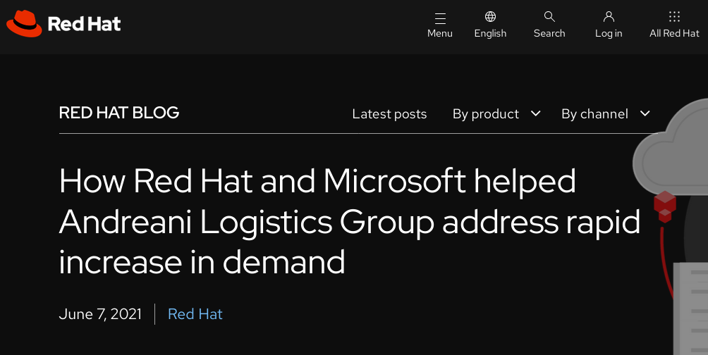 How Red Hat and Microsoft helped Andreani Logistics Group address rapid increase in demand