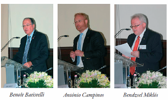 Speakers at the official opening of the UPC judges' training centre in Budapest (March 2014).