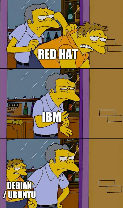 Red Hat, IBM, Debian / Ubuntu