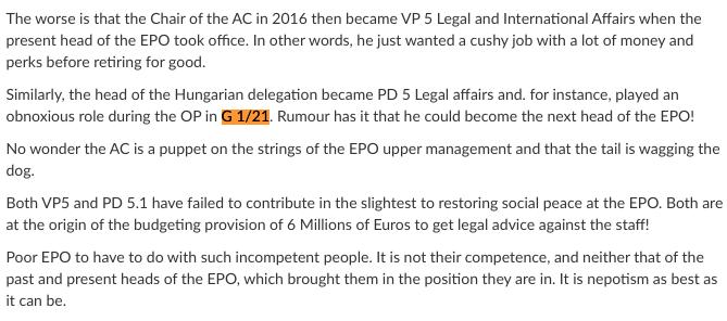 EPO cronyism