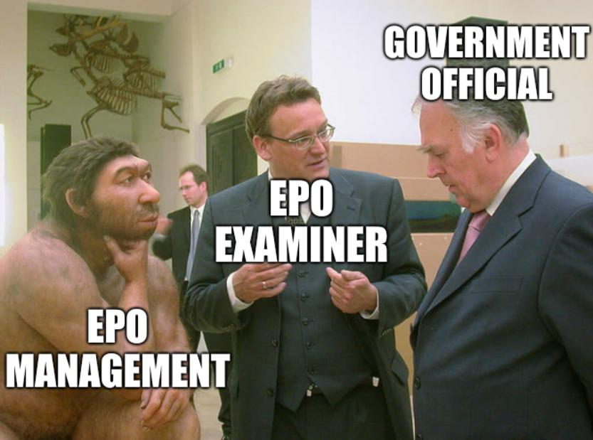 EPO management, EPO examiner, Government official