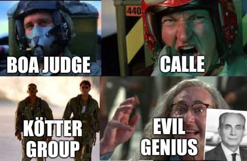 Independence Day movie: BOA Judge, Calle, Kötter Group, Evil genius