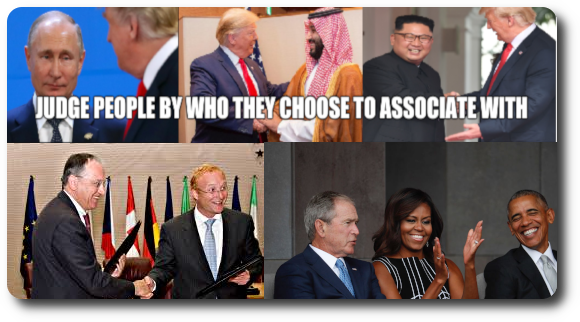 Murderous Dictator Bingo: Judge people by who they choose to associate with