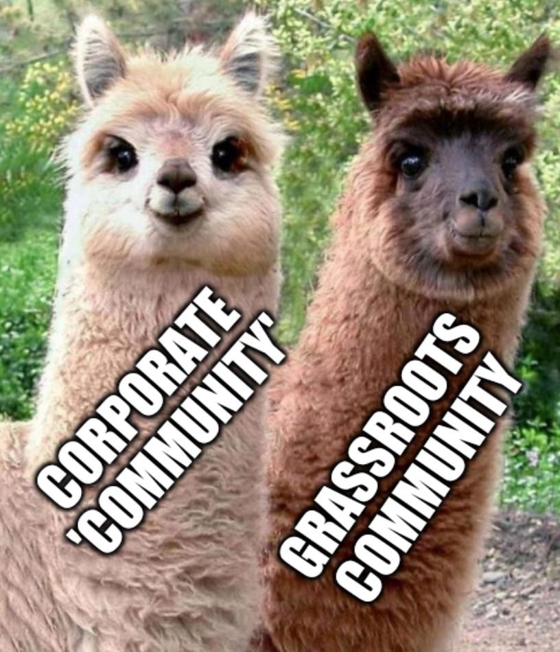 Corporate 'community' and grassroots community