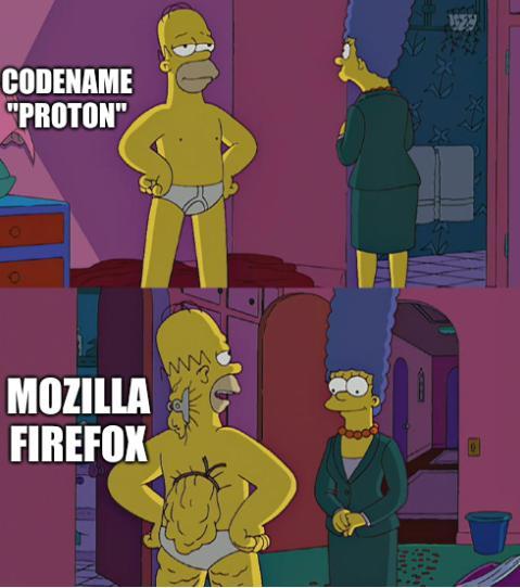 Homer Simpson's Back Fat: Mozilla Firefox, codename 'Proton'