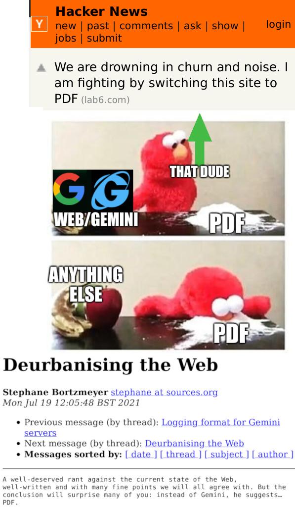 Web/Gemini, PDF, That dude, Anything else