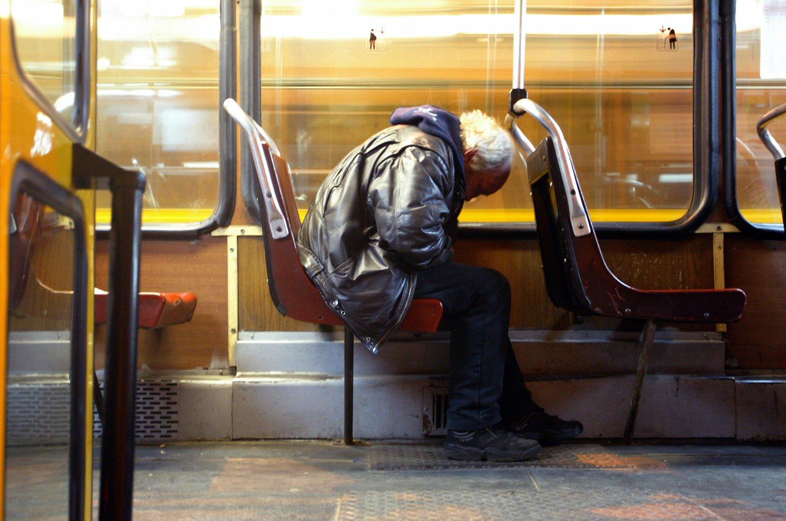 Man in sleeping pose