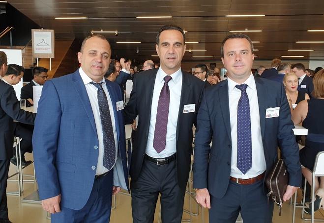 Elvin Lako with Safet Emruli and Goran Gerasimovski