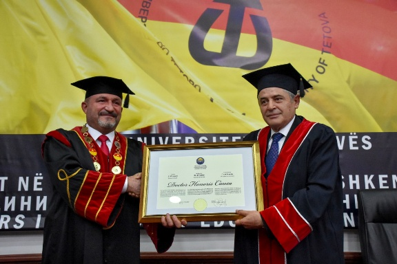 DUI leader Ahmeti awarded with an honorary doctorate by the University of Tetovo in December 2020