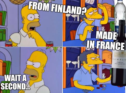 From Finland? Wait a second... Made in France