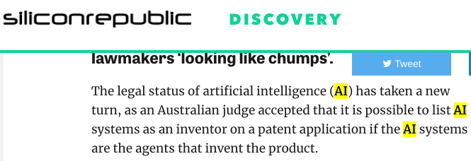 AI can be an inventor on patent filings, rules Australian court