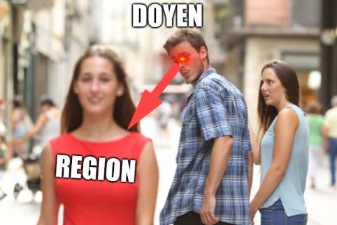 Region, Doyen