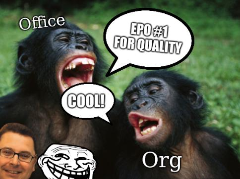 EPO (Office and Org): EPO #1 for quality; cool!