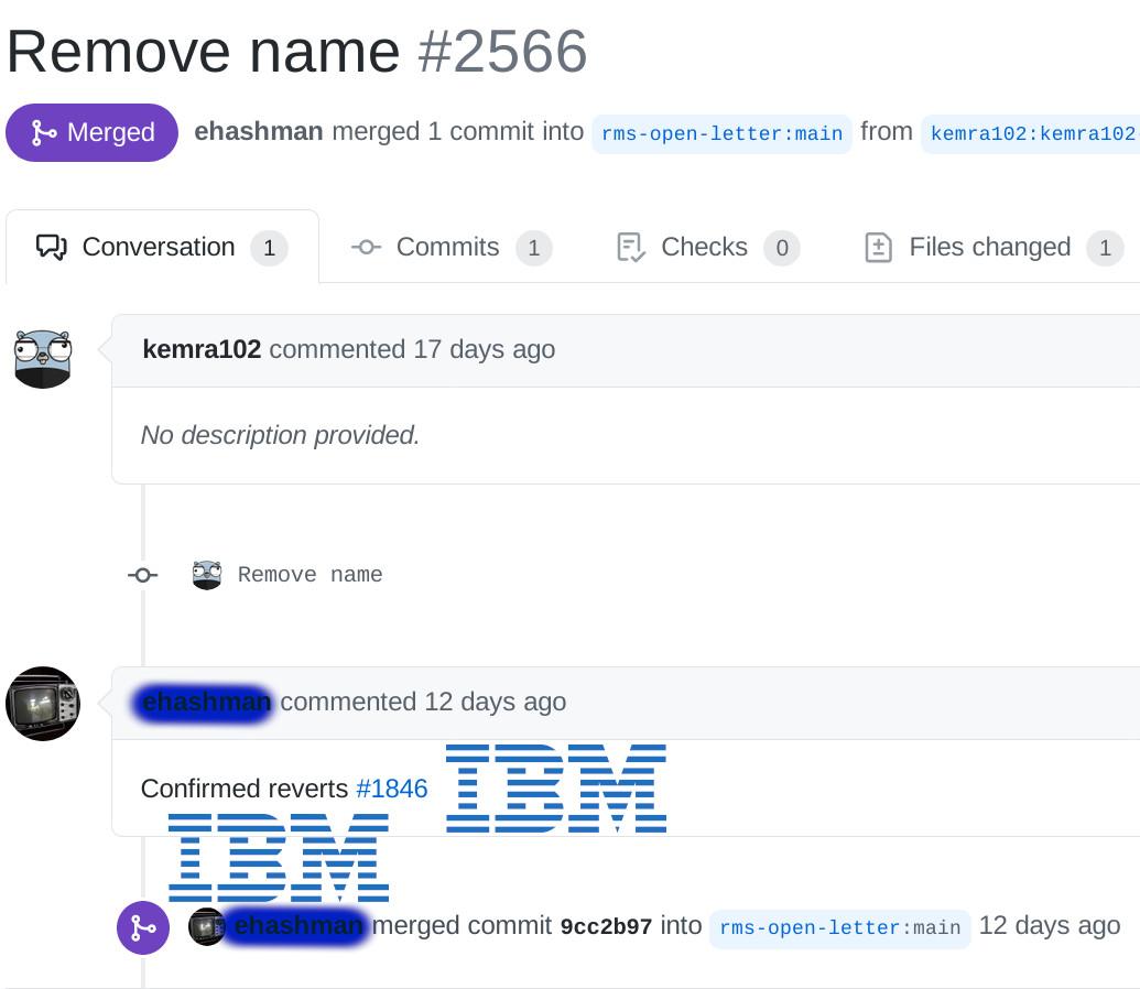 IBM approves