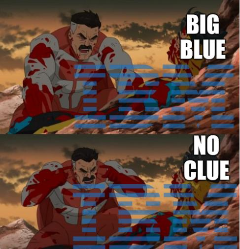 Big Blue; No clue