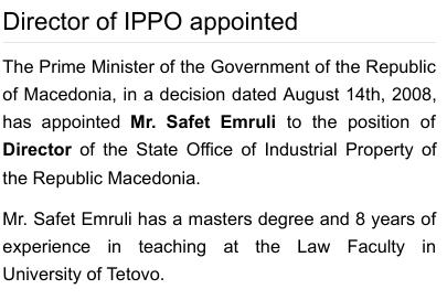 Appointment of Safet Emruli