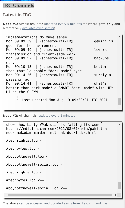 IRC scrolled up