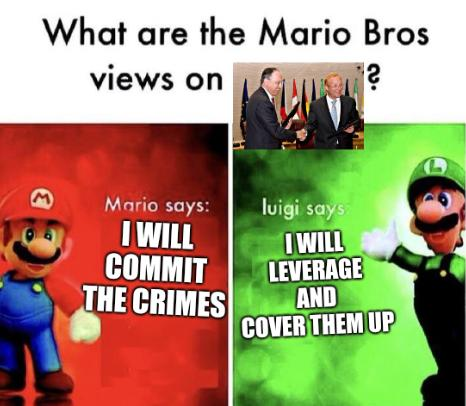 I will commit the crimes; I will leverage and cover them up