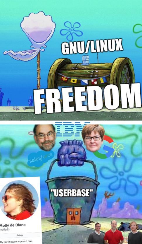 Krusty Krab Vs Chum Bucket: GNU/Linux Freedom