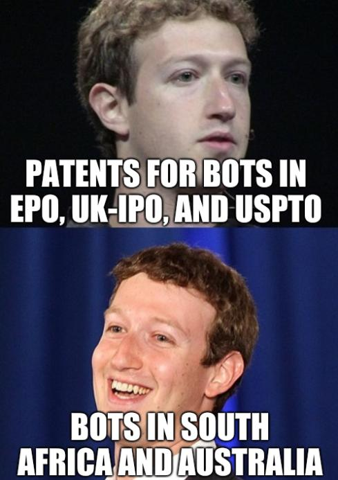 Patents for bots in EPO, UK-IPO, and USPTO; Bots in South Africa and Australia