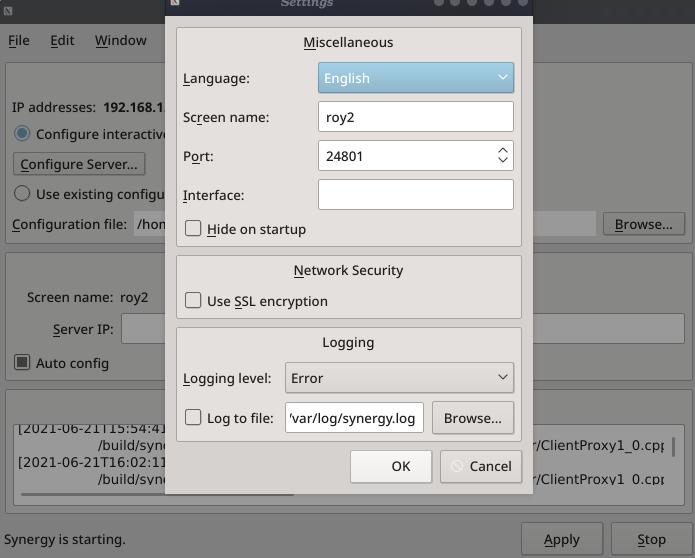 synergy-settings