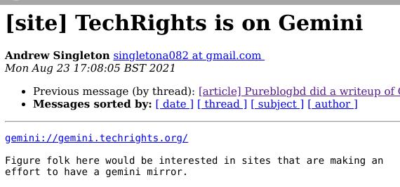 TechRights is on Gemini