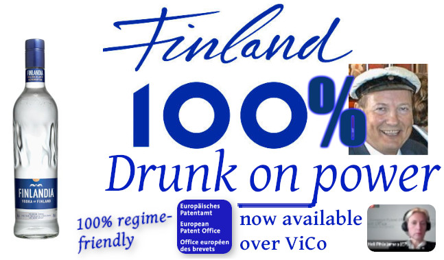 Drunk on power, now available over ViCo, 100% regime-friendly